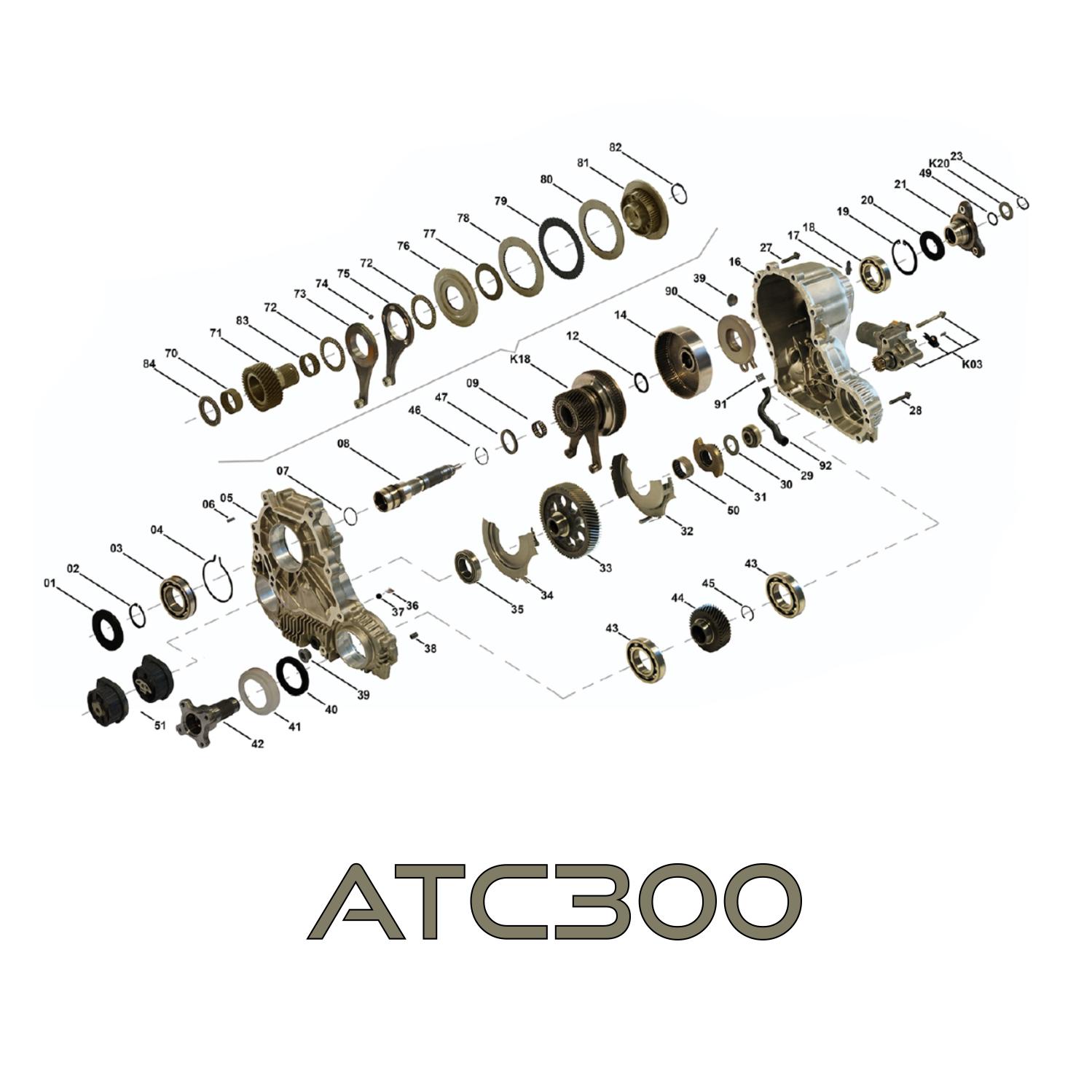 Zestaw Naprawczy Skrzyni Rozdzielczej Reduktora Atc300 Bmw E60 E90