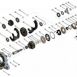 Koło biegu pośredniego Maserati ATC